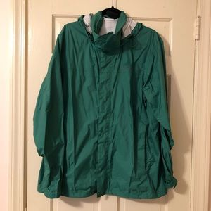 Marmot Green Windbreaker Rain Jacket